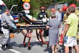 Wypadek pod Skierniewicami . Strażacy musieli wycinać rower z...kobiety. [ZDJĘCIA]