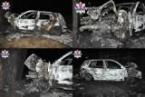 Auto po uderzeniu w drzewo stanęło w płomieniach. Kierowcy nie udało się opuścić pojazdu