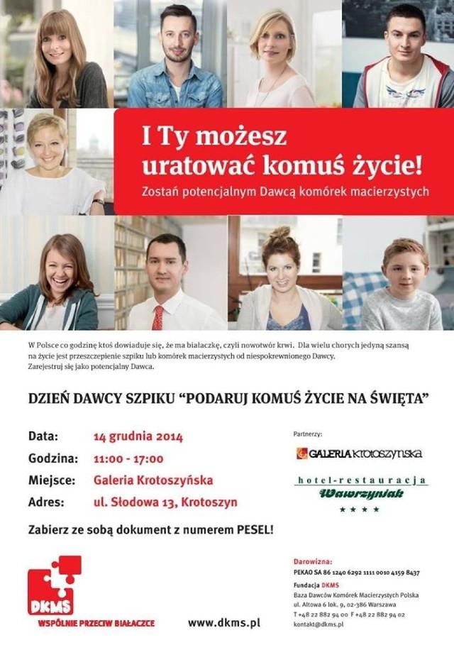 Galeria Krotoszyńska - Dzień dawcy szpiku