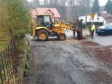 Rozpoczął się remont ulicy Słowackiego w Walimiu
