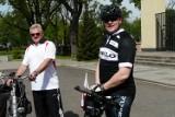 Proboszcz skierniewickiej parafii pojechał rowerem do Rzymu