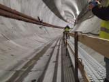 Ostatni postój przed wejściem pod dno Świny. Wyspiarka wydrążyła już 419 metrów tunelu