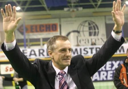 Tak cieszyli się Adam Kryger i Krzysztof Kuchciak po zdobyciu przez Clearex czwartego tytułu mistrza Polski. Fot. A. Łuczakowska