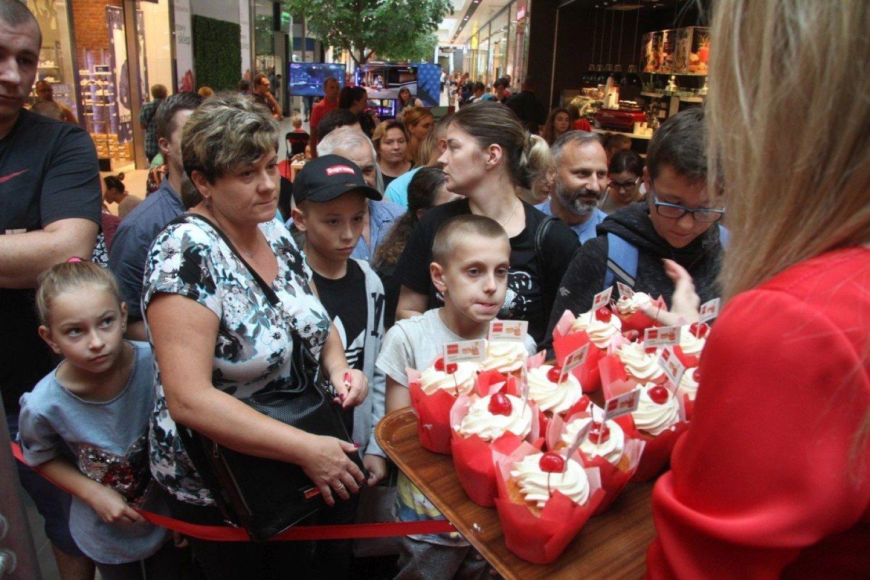45aac4aa30ff82 7. urodziny Galerii Echo w Kielcach. Na klientów czekała moc atrakcji,  rabaty i... tort z 1000 muffinek [ZDJĘCIA]