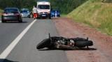 Wypadek w Jastrzębiu. 28-letni motocyklista poważnie ranny po zderzeniu z ciężarówką na Drodze Głównej Południowej
