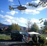 Wypadek na ul. Katowickiej w Ustroniu. Kierowca fiata pandy zmarł w szpitalu  [ZDJĘCIA]