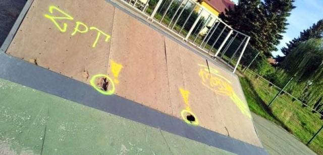 Skatepark w Człuchowie - przydałby się tu remont