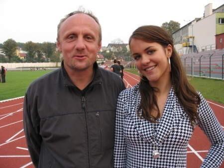 Kamila Kubaczyk z trenerem Wróblewskim. FOT. WOJCIECH PIEPIORKA