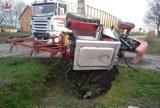 Gmina Werbkowice: Skręcał traktorem na posesję, wylądował w rowie