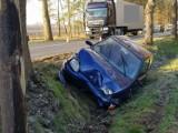 Wypadek w Ludwikowie. Trzy osoby poszkodowane