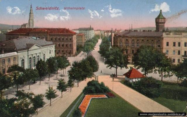 Stare zdjęcia Świdnicy Plac Grunwaldzki