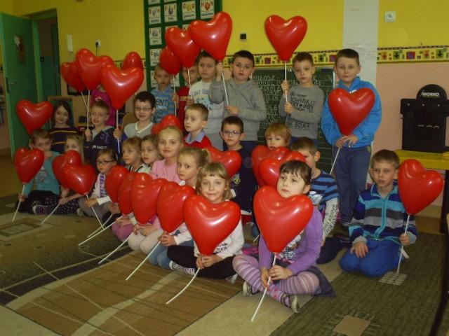 Walentynki w Przedszkolu 1 Myszków.