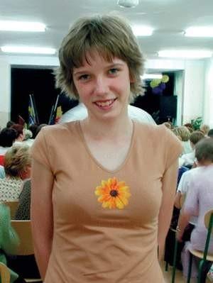 Paulina Miłkowska, z Gimnazjum nr 11 w Częstochowie, uczennica Magdaleny Kałużnej, była jedną z trzech laureatek konkursu z chemii. Foto: JAKUB MORKOWSKI