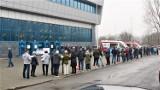 W Olkuszu, w hali MOSiR przy ulicy Wiejskiej, ruszyły masowe szczepienia przeciwko COVID-19. Pierwsze w Małopolsce. ZDJĘCIA