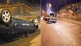 Bytom: Wypadek na Chorzowskiej. Honda dachowała ZDJĘCIA