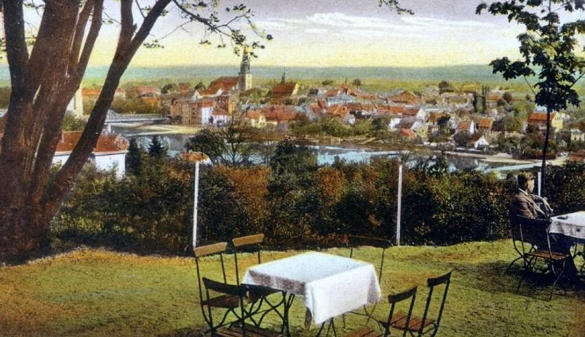 Restauracja Wilhelmshöhe z panoramą dawnego niemieckiego...