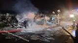 Pożar kuchni letniej oraz samochodu. Do pożarów doszło na terenie powiatu pabianickiego ZDJĘCIA