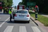 Wypadek na ul. Lwowskiej w Krośnie. Dziecko potrącone na przejściu dla pieszych. Przejeżdżało rowerem [ZDJĘCIA]