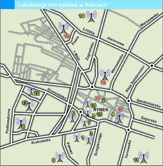 W Kielcach Darmowy Internet Dla Wszystkich Zobacz Mape Hot Spotow