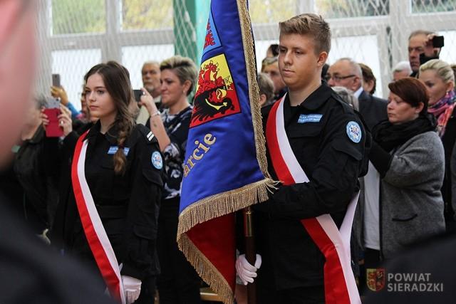 Ślubowanie uczniów Liceum Mundurowego ZSP w Warcie