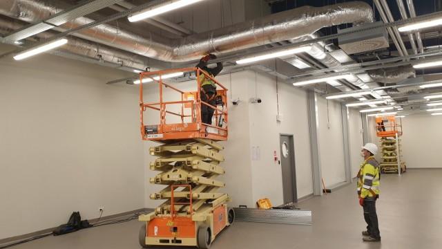 Na terenie lotniska w Pyrzowicach rozpoczęły się prace związane  budową szpitala polowego