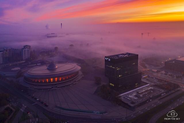 Katowice we mgle