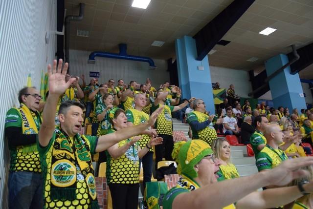 Kibice podczas meczu Aluron CMC Warta Zawiercie z GKS Katowice.