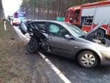 Wypadek w okolicach Gubina. Na skrzyżowaniu z drogą krajową zderzyły się dwa samochody. Jedna osoba poszkodowana