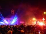 Sylwester miejski 2018/2019 w Bielsku Podlaskim. Zamiast sztucznych ogni był pokaz laserowy [ZDJĘCIA]
