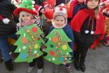 Świąteczna choinka w Końskich już świeci. Przyszły wszystkie przedszkolaki [ZDJĘCIA]
