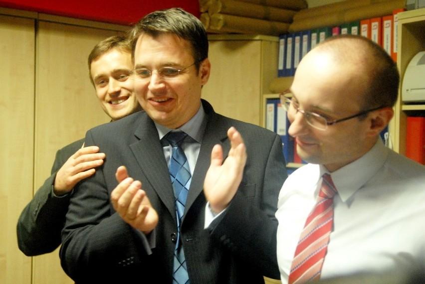 Na zdjęciu od lewej: Tomasz Nesterowicz, Janusz Kubicki i...