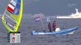 Tokio 2020. Niecodzienne okoliczności wyścigu medalowego w RS:X. Gdański windsurfer Piotr Myszka wypadł z walki o medal
