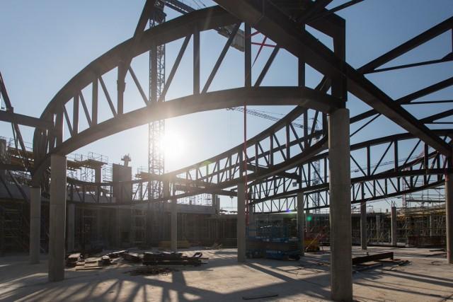 Tak wygląda na budowie na początku października  Zobacz też: CH Posnania - wirtualny spacer