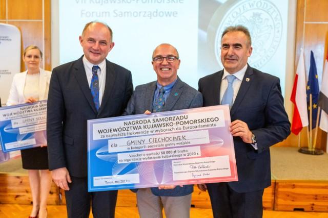 Nagroda za wysoką frekwencję trafiła również do Ciechocinka po ubiegłorocznych wyborach do Europarlamentu.