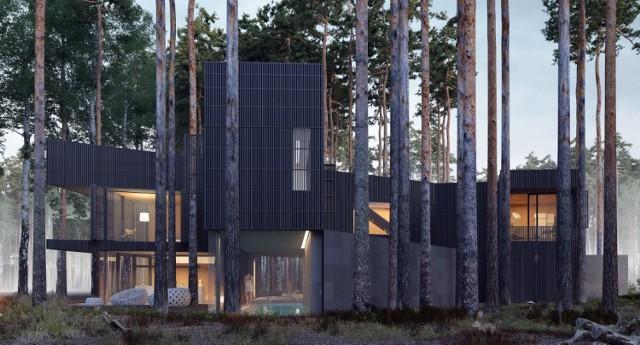 Willa, która wije się między drzewami. Niesamowity dom w środku lasu Puszczy Kampinoskiej