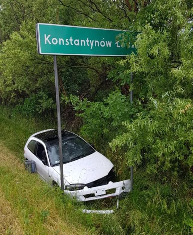 Wypadek pod Konstantynowem Łódzkim na DK71.