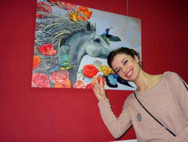 -Moje malarstwo ma dawać radość - mówi Agnieszka Osak