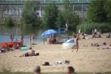 Ale upał, ale tłum! Katowiczanie uciekli z gorącego miasta na Dolinę Trzech Stawów. Staw Kąpielowy, plaża i bary wodne pełne
