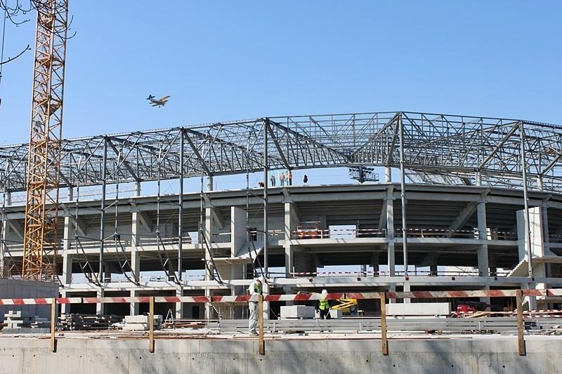 Co nowego na budowie stadionu Górnika Zabrze? [Zdjęcia]