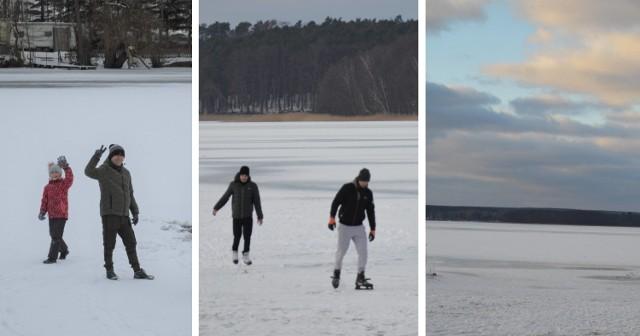 Jeziora wokół Świebodzina są skute lodem. - Już dawno nie było takiej zimy! - zgadzają się mieszkańcy