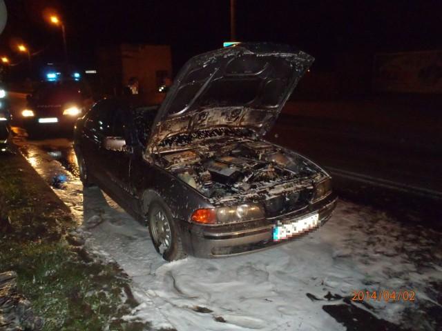 Krotoszyn - Pożar samochodu