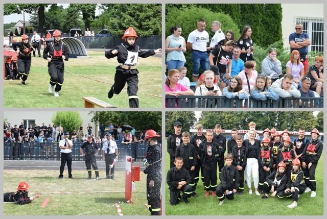 7. ogólnopowiatowe zawody młodzieżowych drużyn pożarniczych w Lipnie na stadionie, 4 lipca 2021 roku.