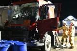 Nocna akcja po wypadku na obwodnicy Świecia. Zobacz zdjęcia