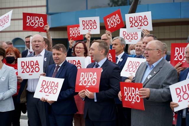 Kalisz: Zachęcali do głosowani ana Andrzeja Dudę