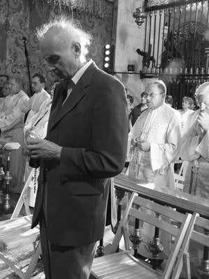 Wojciech Kilar na Jasnej Górze świętował 71-lecie swoich urodzin.  /  VIOLETTA GRADEK