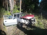 Gm. Sztum. Zderzenie dwóch aut, którego musiało wyglądać groźnie. Samochody bardzo uszkodzone, kierowcy wyszli cało