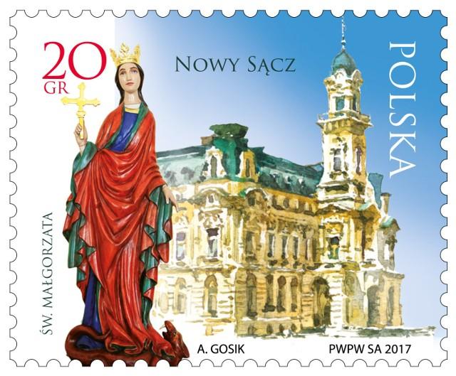 Znaczek do obiegu trafi 8 listopada, w 725. rocznicę lokacji Nowego Sącza