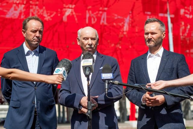 W środę odbyła się konferencja prasowa zorganizowana przez środowisko PO. Wzięli w niej udział marszałek Mieczysław Struk oraz europosłowie Janusz Lewandowski i Jarosław Wałęsa