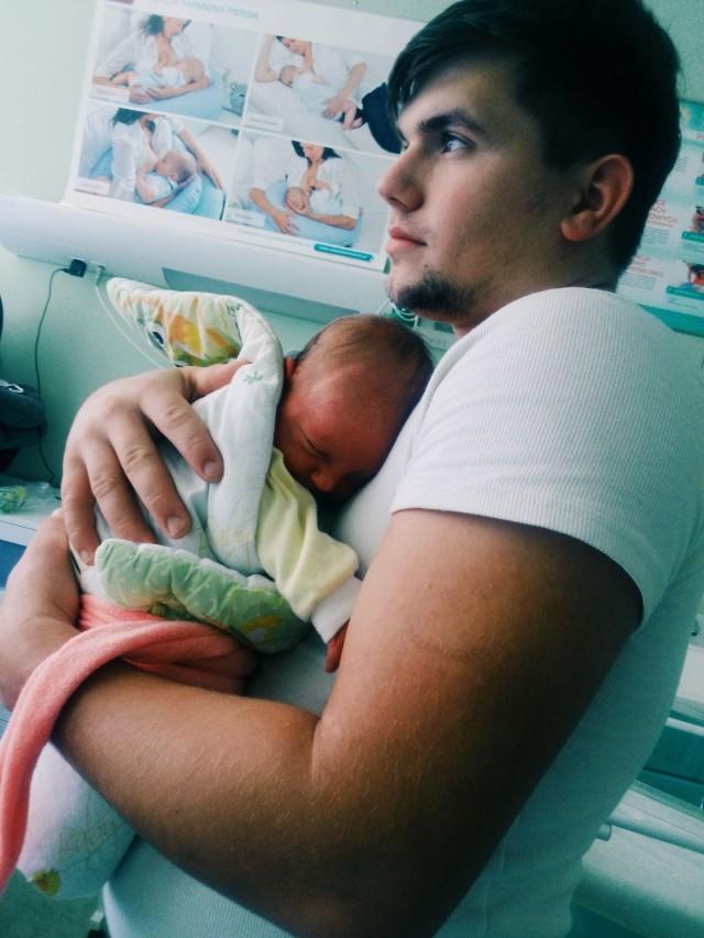 Hubercik, urodzony 21 października o godz. 17. Syn Katarzyny i Seweryna.  Ważył 3495 g i mierzył 56 cm.