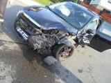 Wypadek obok szkoły w Kobylu, zderzyły się trzy samochody osobowe [ZDJĘCIA]